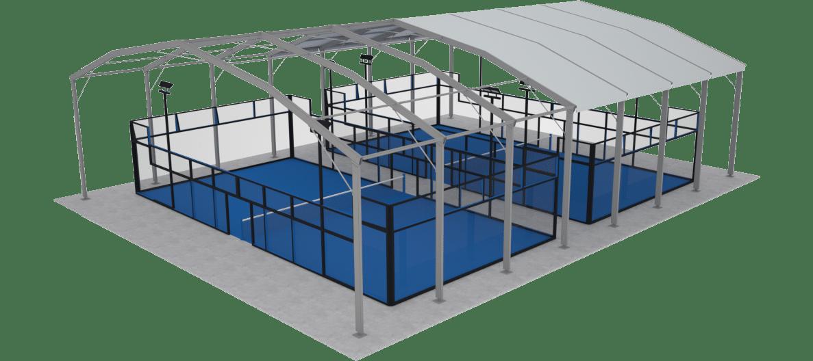 Bâtiment de stockage entoilage avec plancher intégré - Liberté Covers
