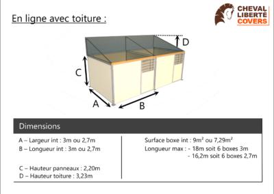 Boxe olympic en ligne avec toiture - Cheval Liberté Covers
