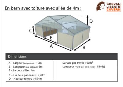 Fiche info Boxes Prestige sous barns - Cheval Liberté Covers