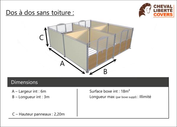 Fiche info Boxes Prestige dos à dos - Cheval Liberté Covers