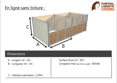 Fiche info Boxes Prestige en ligne - Cheval Liberté Covers