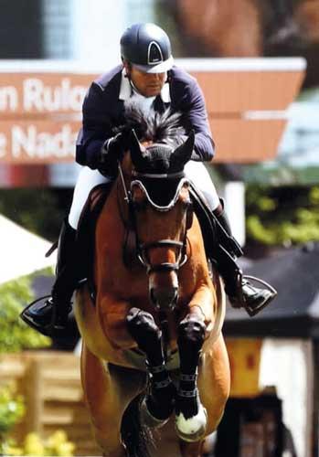 Fabien Rulquin sur son cheval